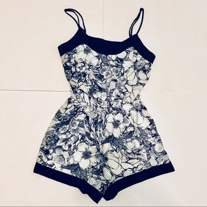Illa Illa Blue and White Floral Romper